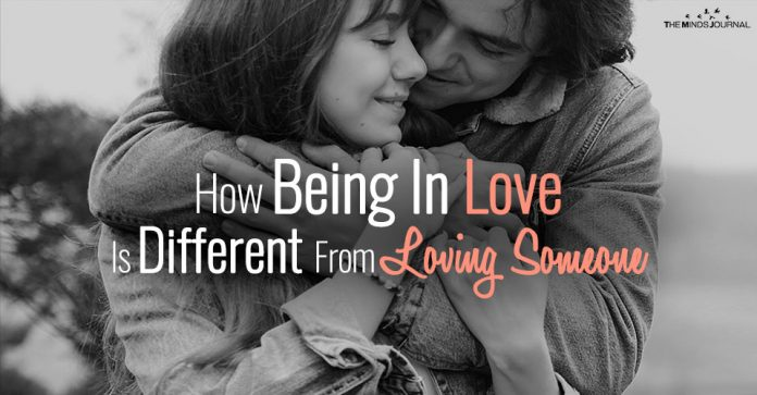 How Being In Love Is Different From Loving Someone