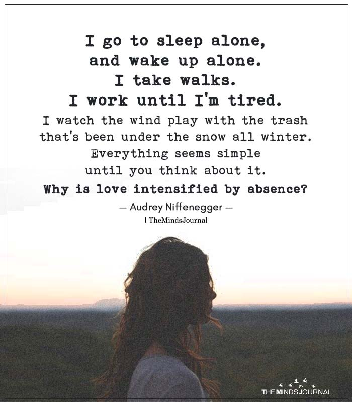 I Go To Sleep Alone