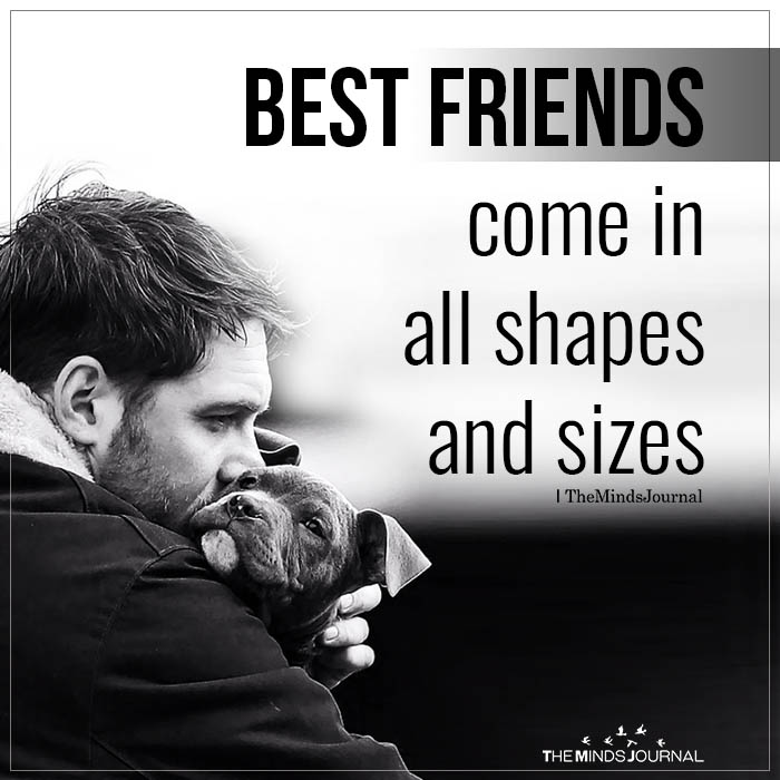 Best Friends Come In All Shapes And Sizes