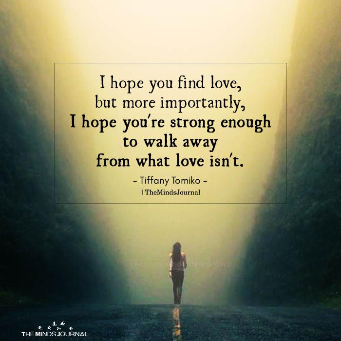 I Hope You Find Love