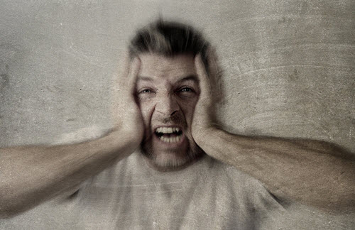 man depressed anxious
