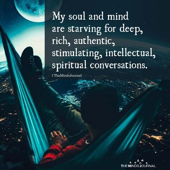 My Soul And Mind Are Starving