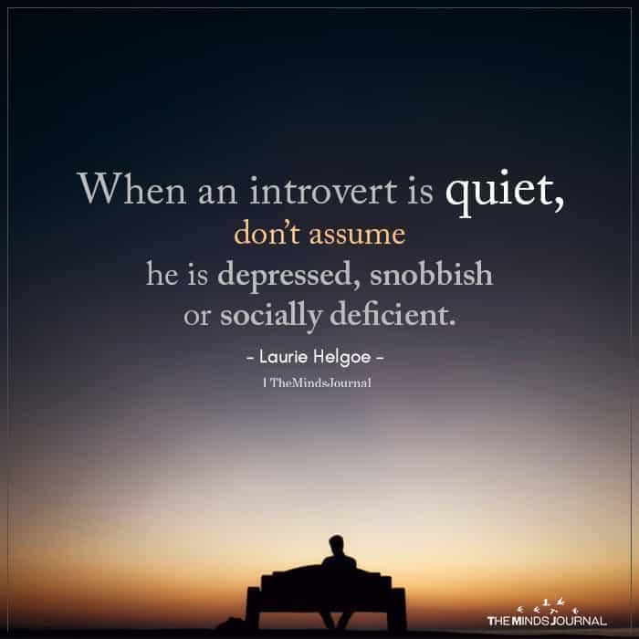 When An Introvert Is Quiet