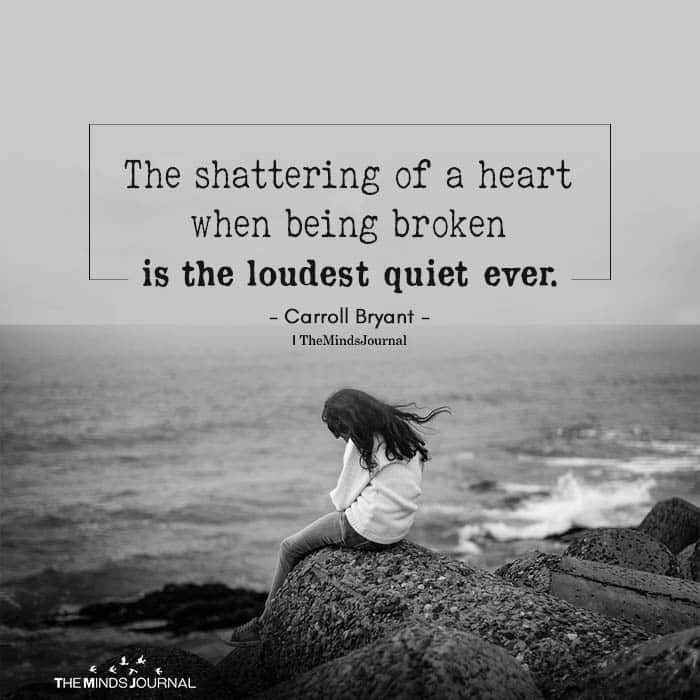 The shattering of a heart