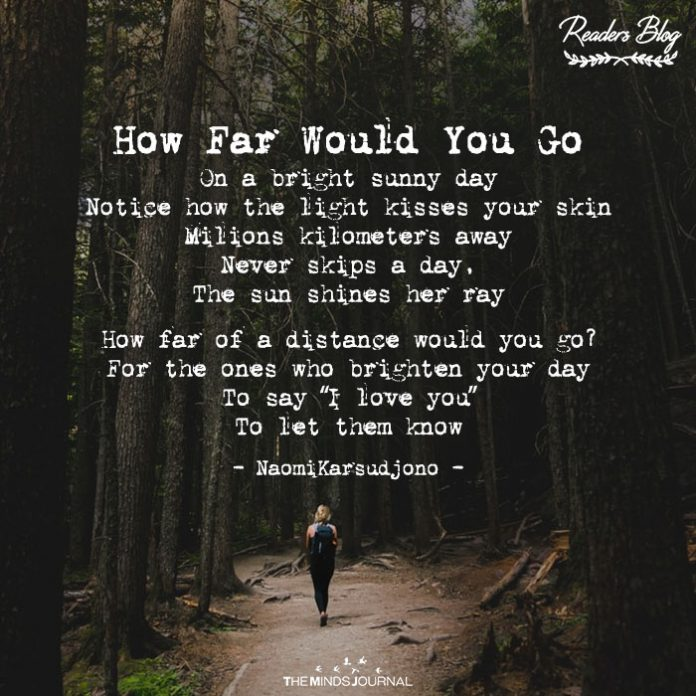 readers blog how far would you go