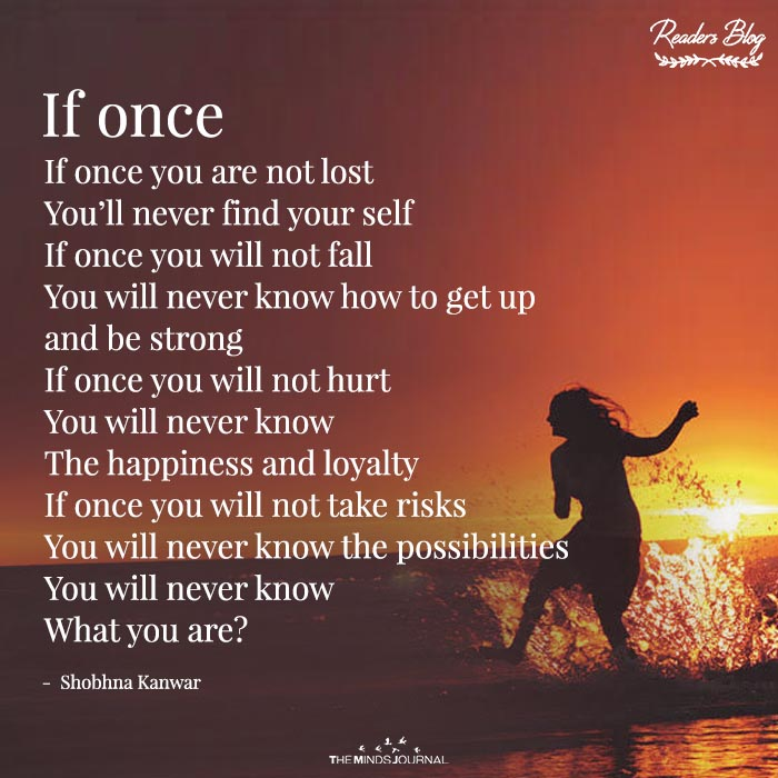 If once..
