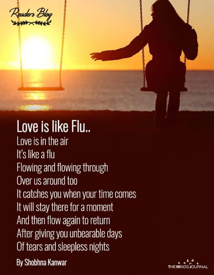 readers blog love is like a flu