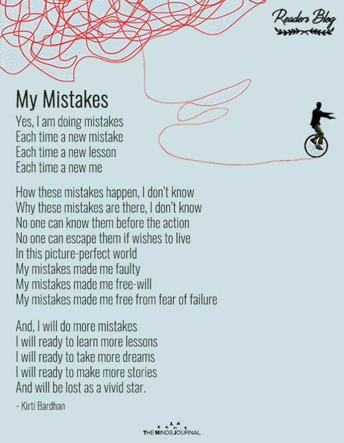 readers blog my mistake