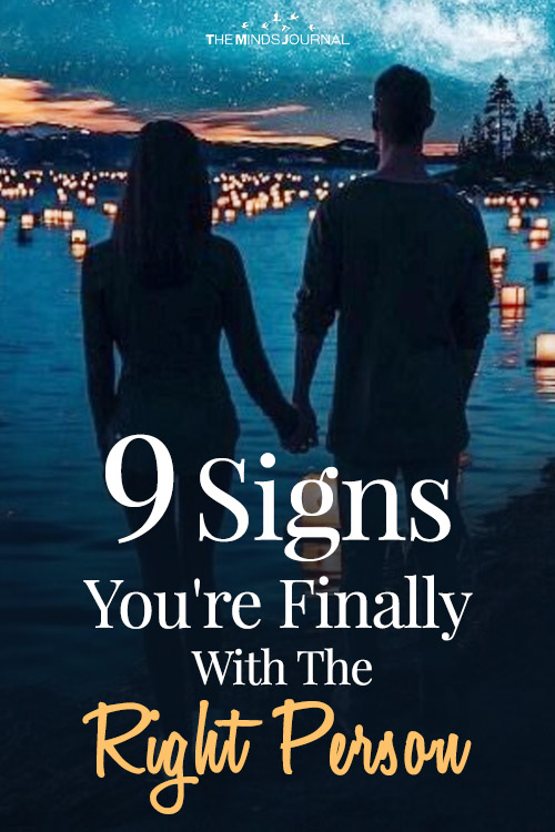 signs youre with the right person pin