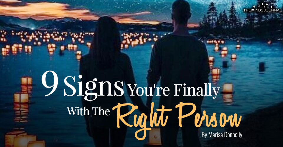 signs youre with the right person