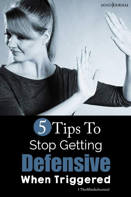 stop getting defensive pin