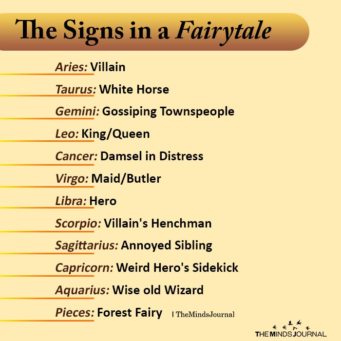 the signs in fairytale