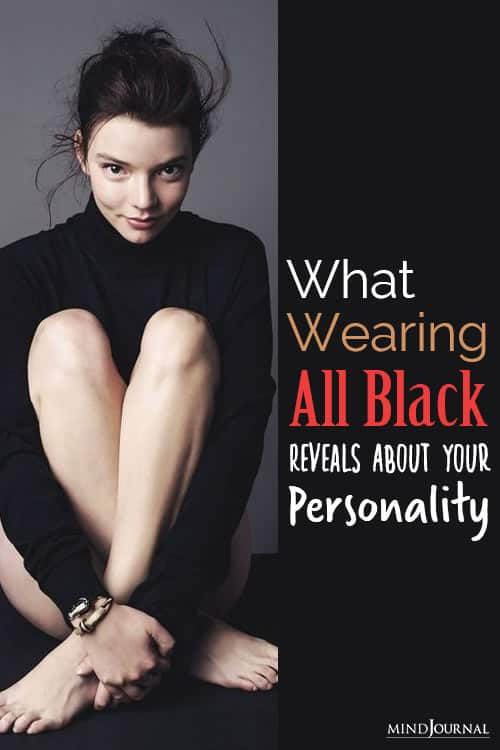 wearing black reveals your personality pin