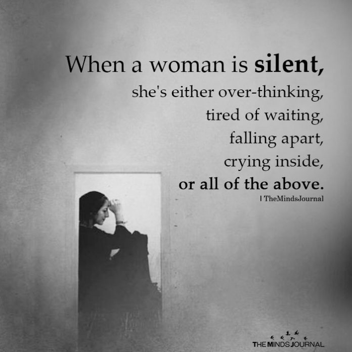 when a woman is silent
