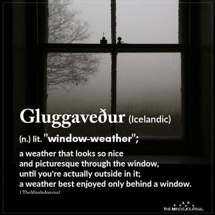 Gluggaveður (icelandic)