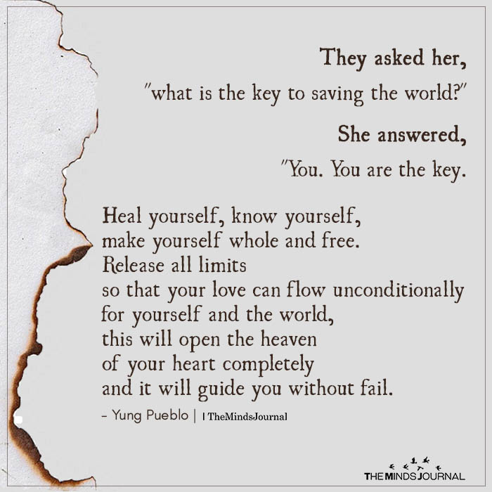 """They asked her, """"What is the key to saving the world?"""""""