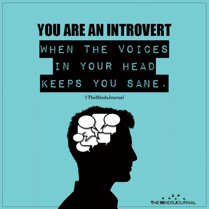 you are an introvert