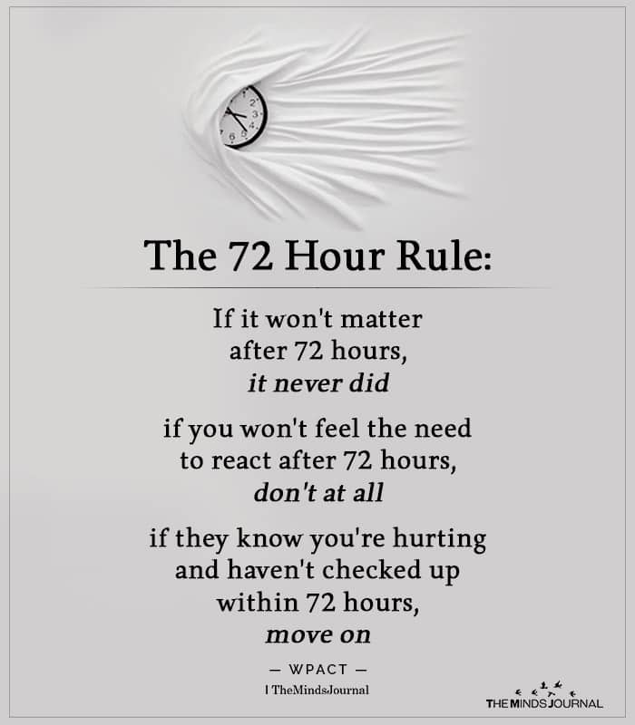 The 72 Hour Rule