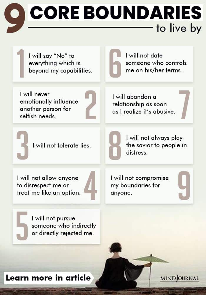 Core Boundaries To Live By infographic