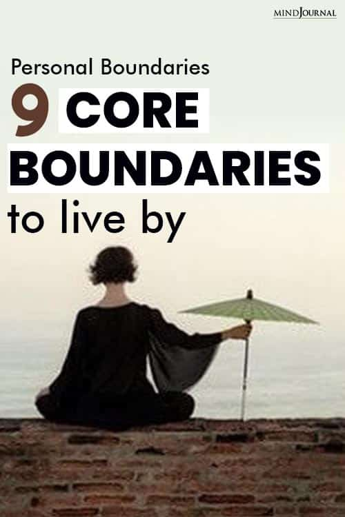 Core Boundaries To Live By pin