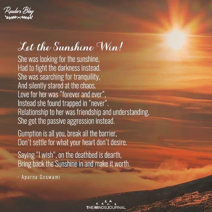Let the Sunshine Win!
