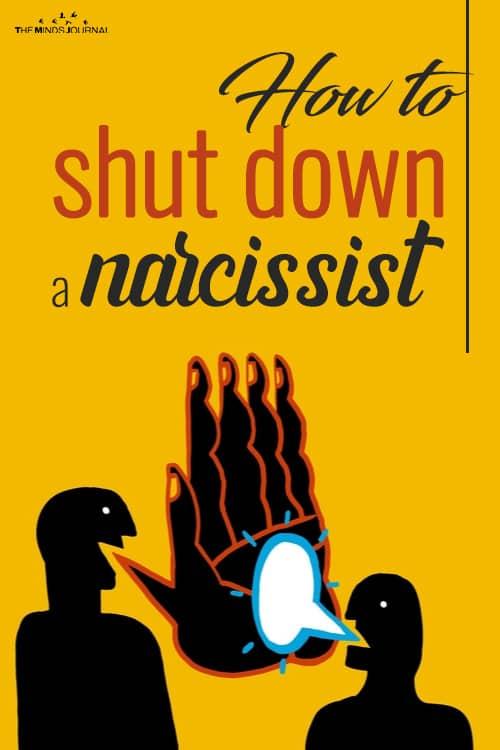 shut down a narcissist pin
