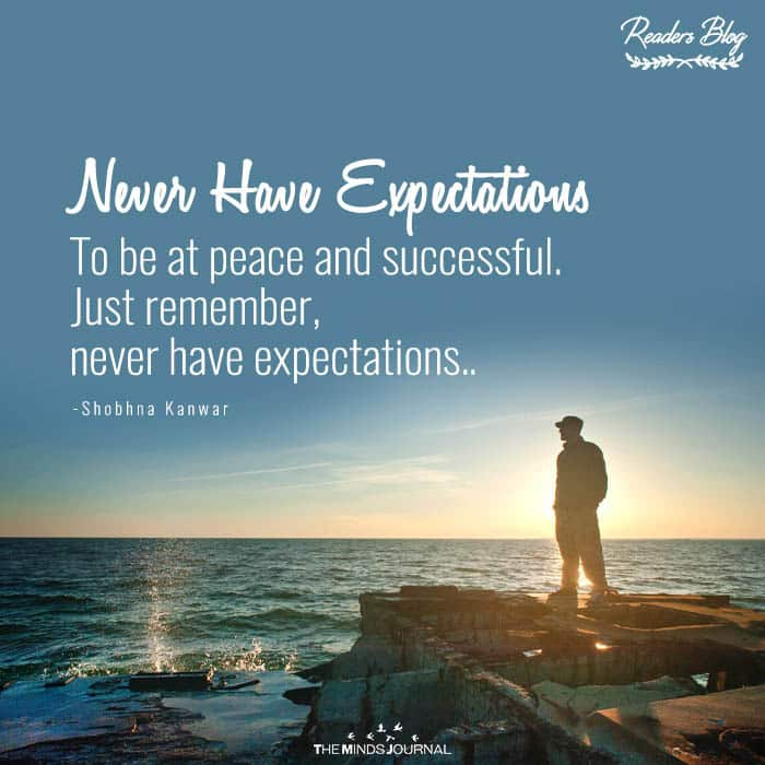 Never Have Expectations
