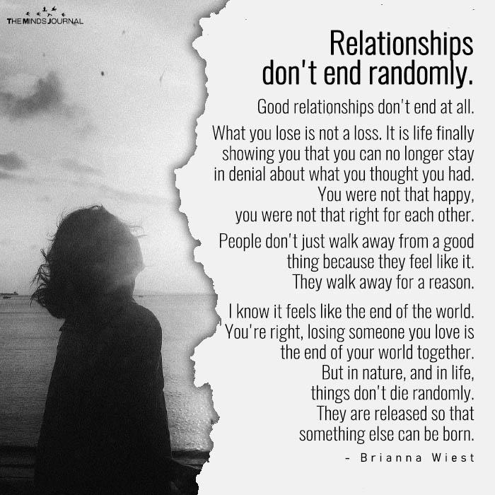Relationships Don't End Randomly