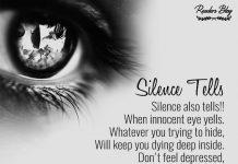 Silence tells