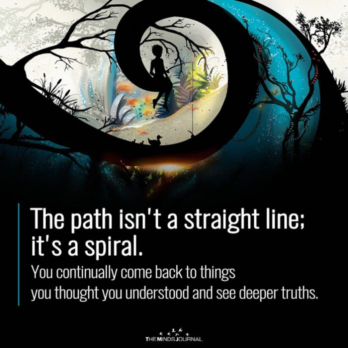 The path isnt a straight line