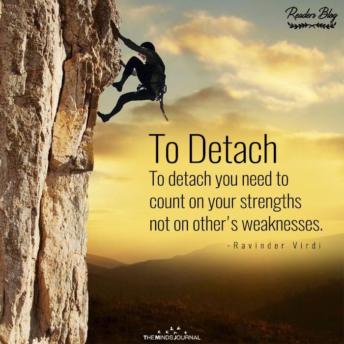 To Detach