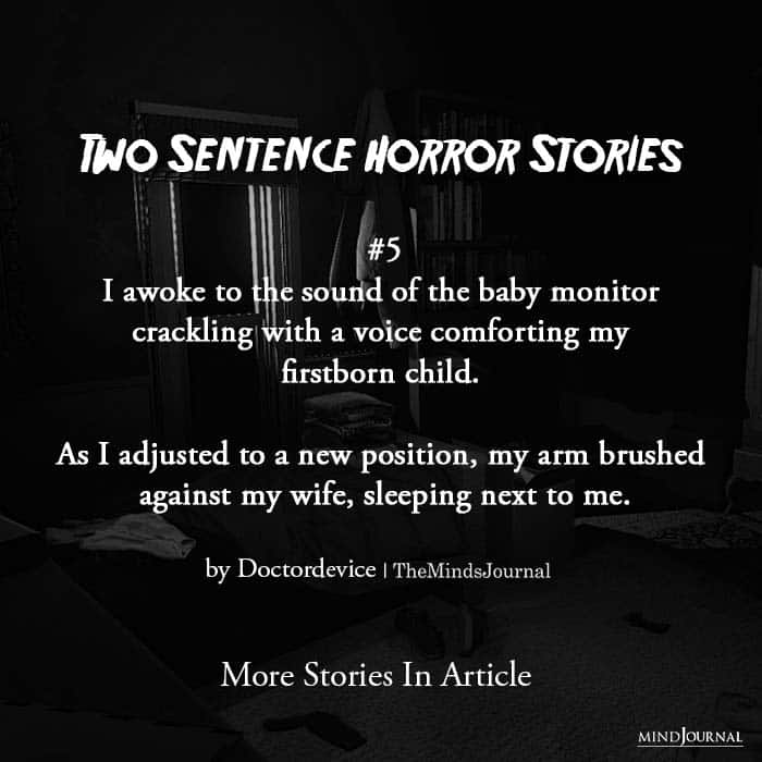 Two Sentence Horror Stories fifth story