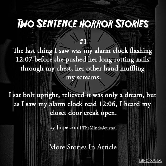 Two Sentence Horror Stories first story