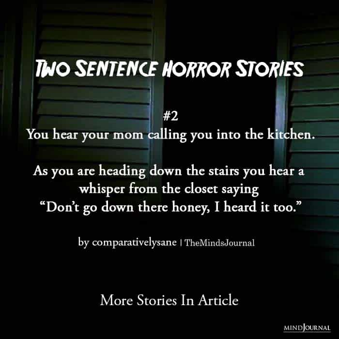 Two Sentence Horror Stories second story