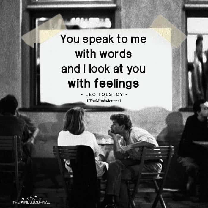 You Speak to Me