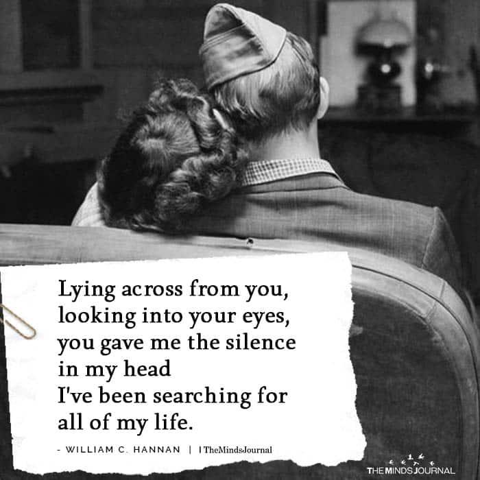 Lying Across From You