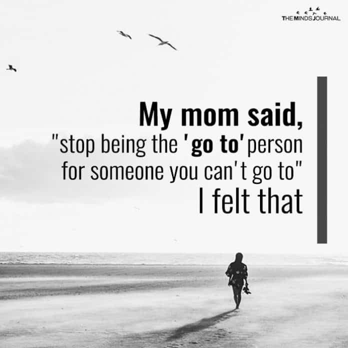 mom said