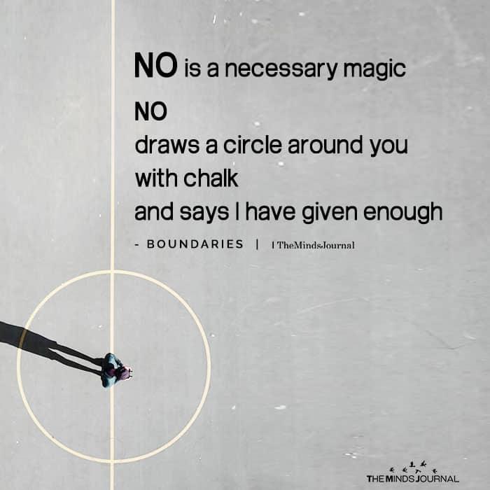 No Is a Necessary Magic