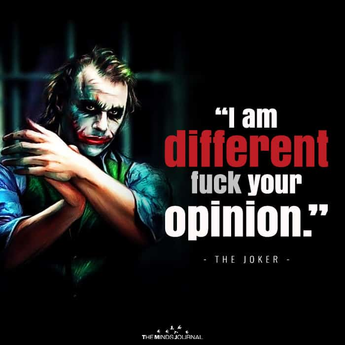 I Am Different, Fuck Your Opinion