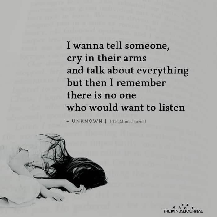 I Wanna Tell Someone