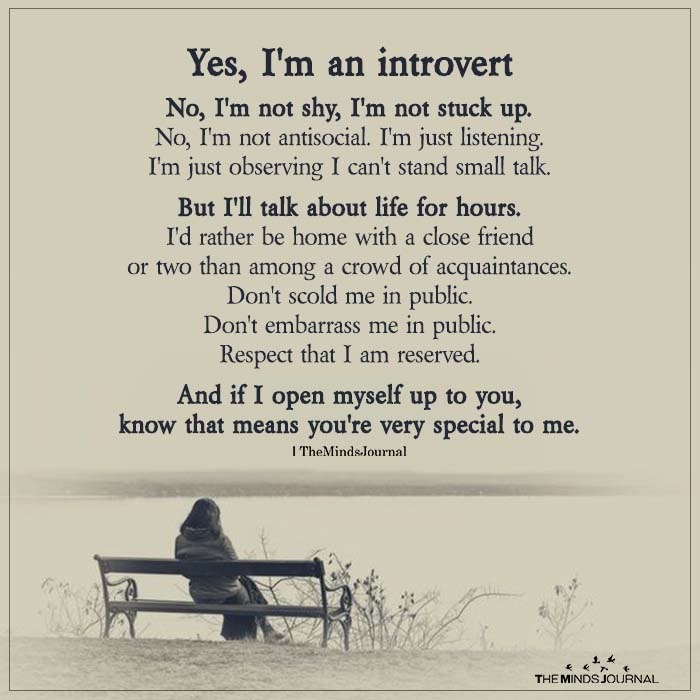 Yes, I'm An Introvert