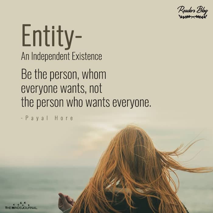 Entity- An Independent Existence