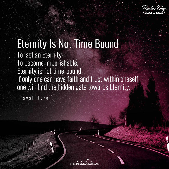 Eternity Is Not Time Bound