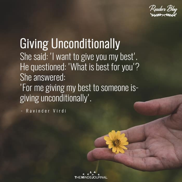 Giving Unconditionally