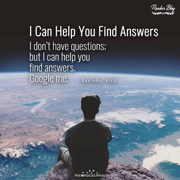 I Can Help You Find Answers