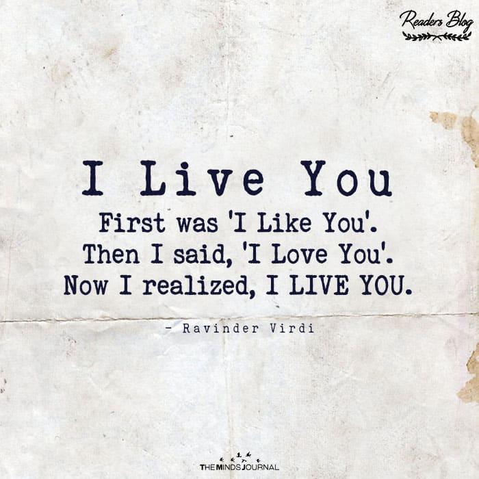 I Live You