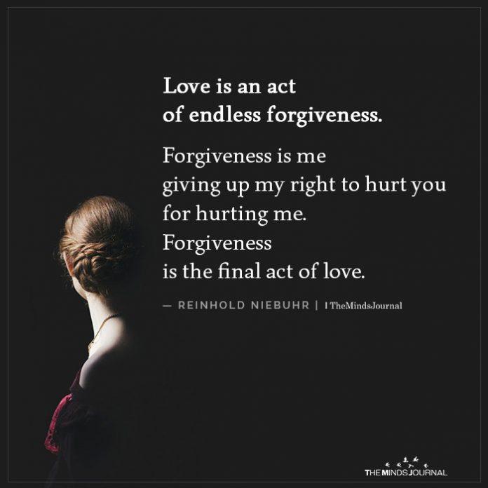 Forgive to make relationship last