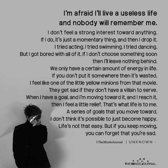 I'm Afraid