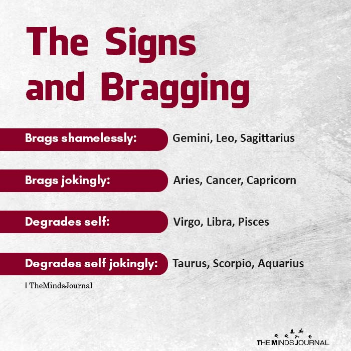 The Signs and Bragging
