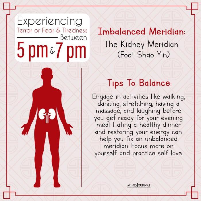 chinese body clock kidney